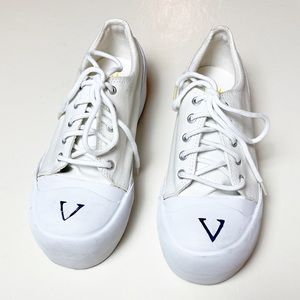 Volatile White Canvas Platform Sneakers - 8.5